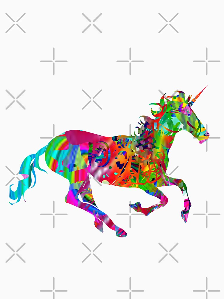 Colorful Paint Horses T-Shirt    by ShyneR