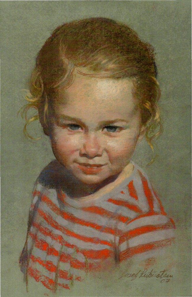 Tyler's Portrait by Josef Rubinstein
