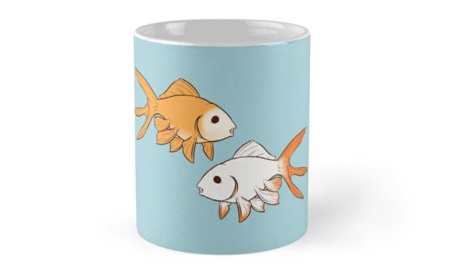 Fantail Goldfish Pair by rawrimamidget