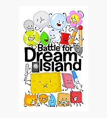 BFDI Poster White Photographic Print