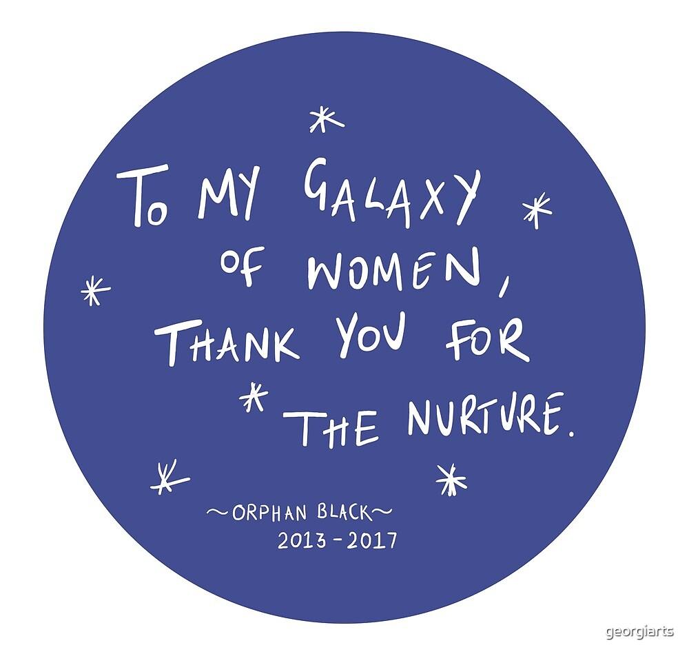 Galaxy of Women - Orphan Black by georgiarts