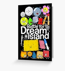 BFDI Poster Black Greeting Card