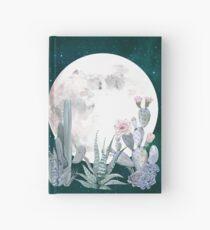Kaktus-Nacht-hübsche rosa und blaue Wüsten-Stern-Kaktus-Illustration Notizbuch