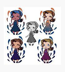 5 chibi anime girl Photographic Print