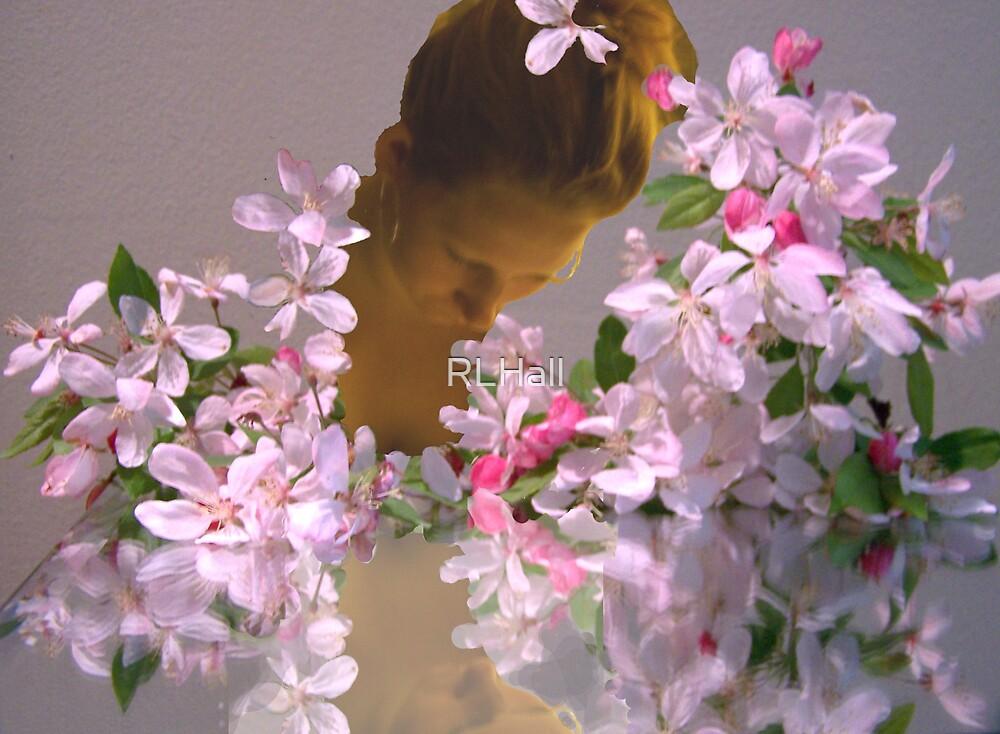She walks among flowers... by RLHall