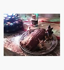 The Yule Log  Photographic Print