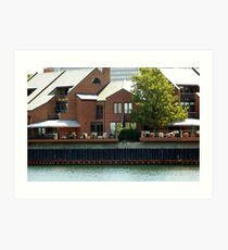 Homes On The Water Front Art Print