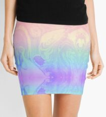Rainbow Marbled Tie Dye Mini Skirt