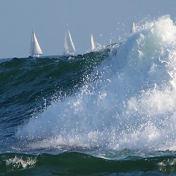 Sailing on the waves by ELENNE