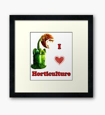 I Love Horticulture Mario Framed Print
