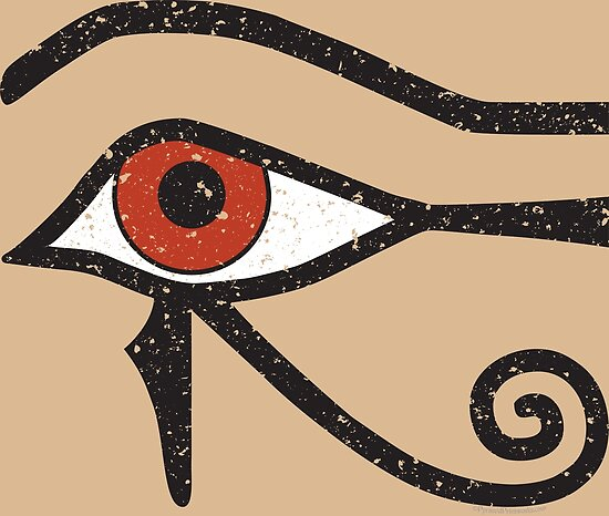 Eye Of Horus Ancient Egyptian Symbol Of Protection On Stone Posters