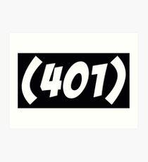 401 Bold Art Print
