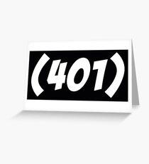 401 Bold Greeting Card