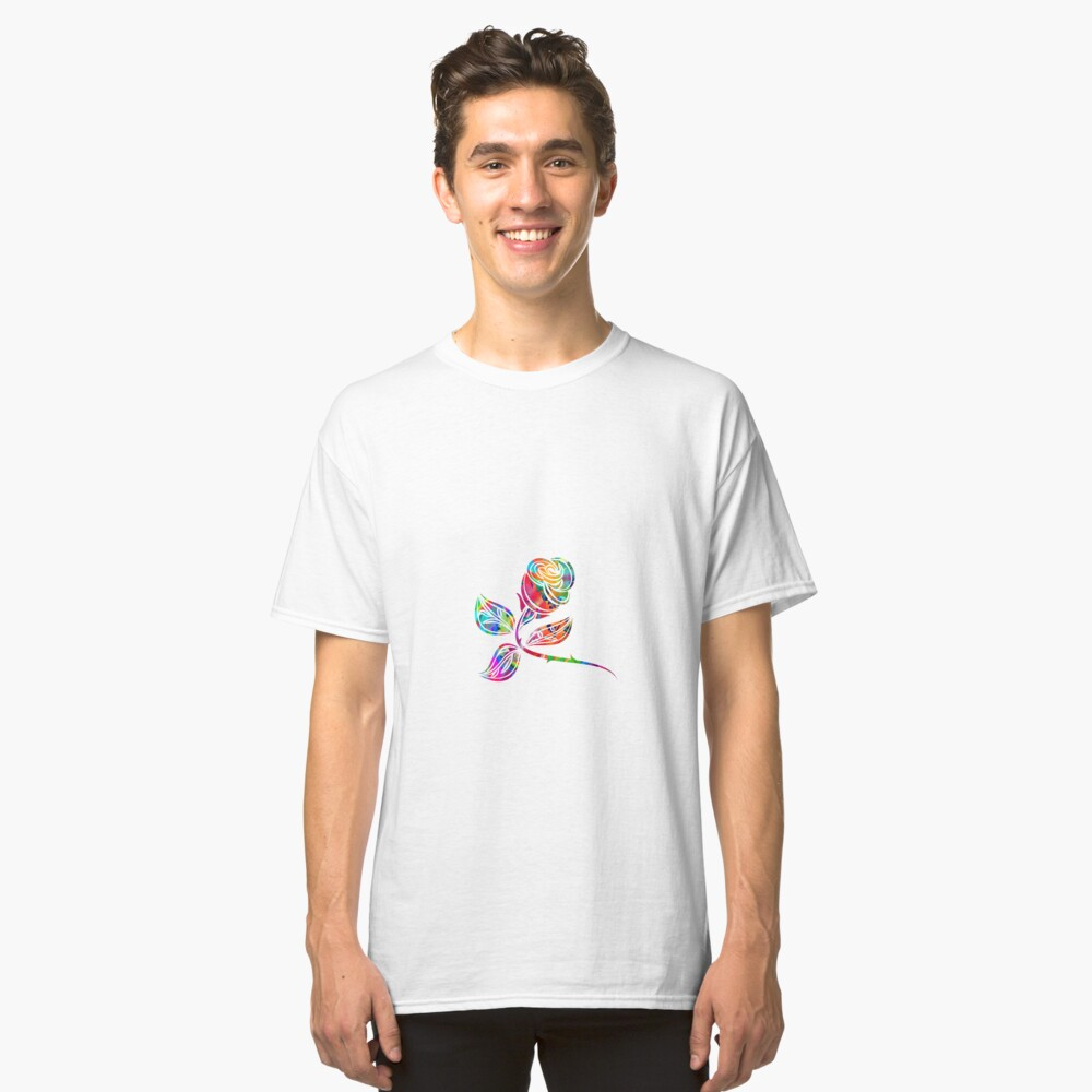 Colorful Rose Classic T-Shirt Front