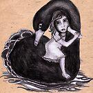 Swan escape by Danielle Bain