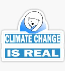 Save The Planet-Climate Change Is Real Sticker