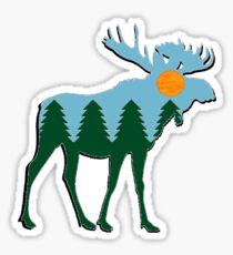 Moose Main  Sticker