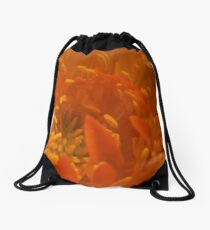 Orange Trollius Stamen Macro Drawstring Bag