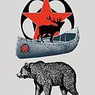 Bear Canoe Elk by Zehda