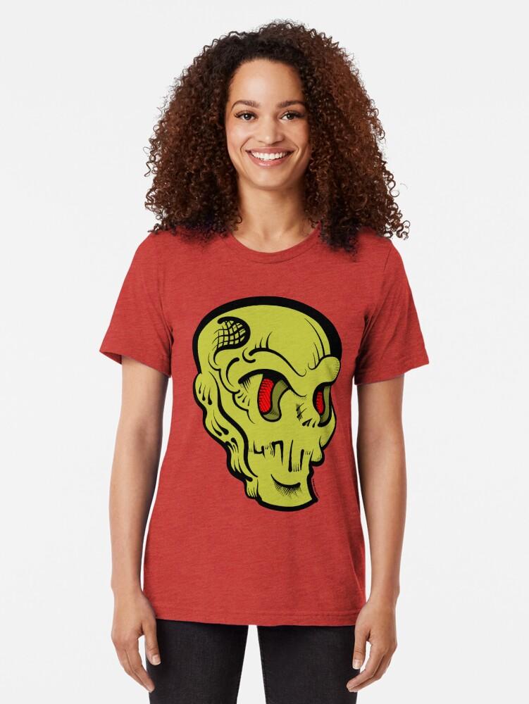 Alternate view of Skully Tri-blend T-Shirt