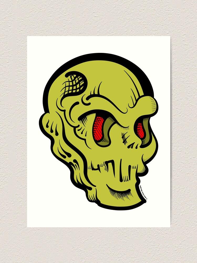 Alternate view of Skully Art Print