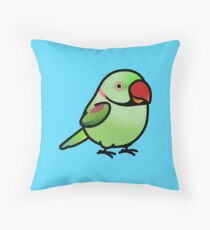 Chubby Alexandrine Parakeet Male Throw Pillow
