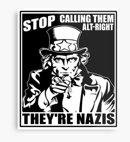 Anti Alt Right Metal Print