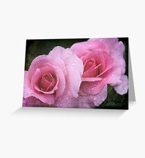 Raindrops on Roses ~ Yesterday's Tears Greeting Card