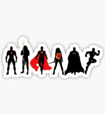 JL Minimalist Superhero Graphic Sticker
