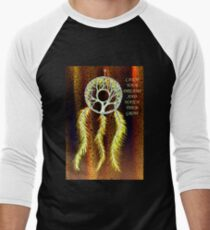 Dream Catcher Gold Men's Baseball ¾ T-Shirt