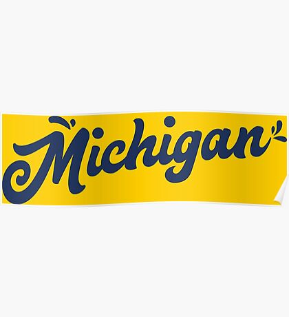 Michigan Hand Lettering Poster