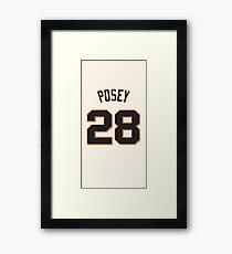 5 Buster Posey San Francisco Giants Framed Print