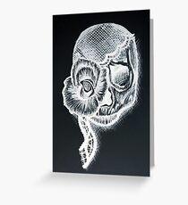 White Inverted Skull Greeting Card