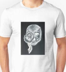 White Inverted Skull T-Shirt