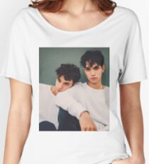 twins in white only  Women's Relaxed Fit T-Shirt