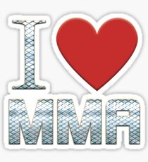 I Love MMA  Sticker