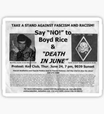 death in june and boyd rice Sticker