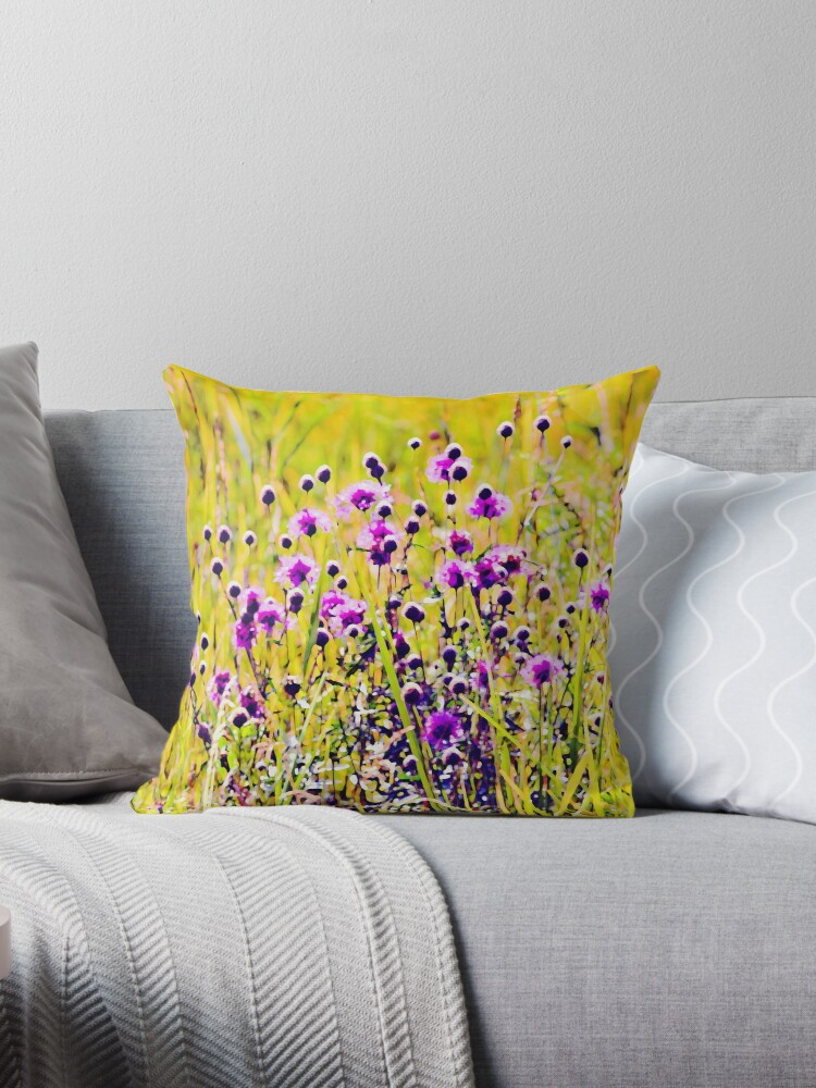 Cornflowers in a grass by Ekaterina Torganskaia