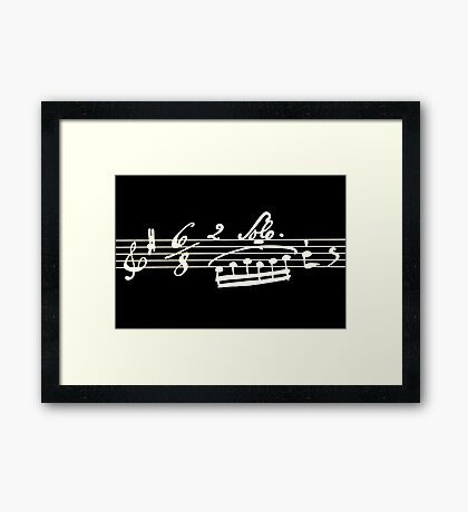 Solo - Musical Note Score Framed Print