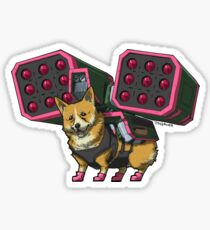 Artie the Artillery Corgi Stickers Sticker