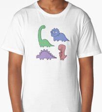 Dinosaur Illustrations Long T-Shirt