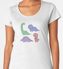 Dinosaur Illustrations Women's Premium T-Shirt