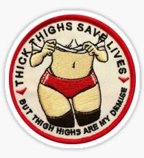 thick thighs  Sticker