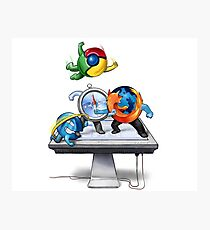 Browser Wars Poster Photographic Print