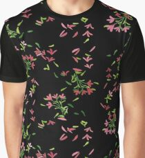 Petals Black Graphic T-Shirt