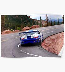 Porsche 911 GT3 Ascending Pikes Peak Poster
