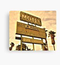 Abandoned Motel Sign Canvas Print