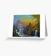 The Citadel Under The Moon. Greeting Card