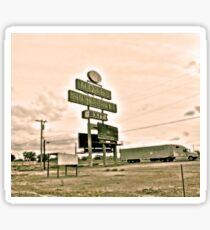 Southwest Motel Restaurant Truck Stop Sign Sticker