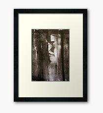 death mask Framed Print